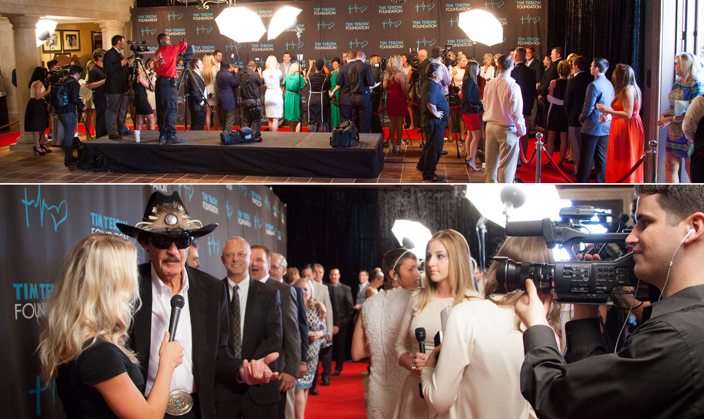 Red Carpet Entrance for the 2014 Tim Tebow Foundation Gala