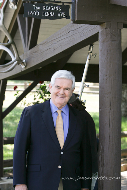 Candidate for President Newt Gingrich at Ronald Reagan
