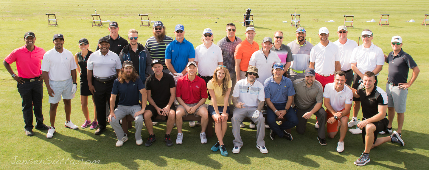 2016 Tim Tebow Foundation Celebrity Gala and Golf Classic group picture celebrities Jensen Sutta event photography