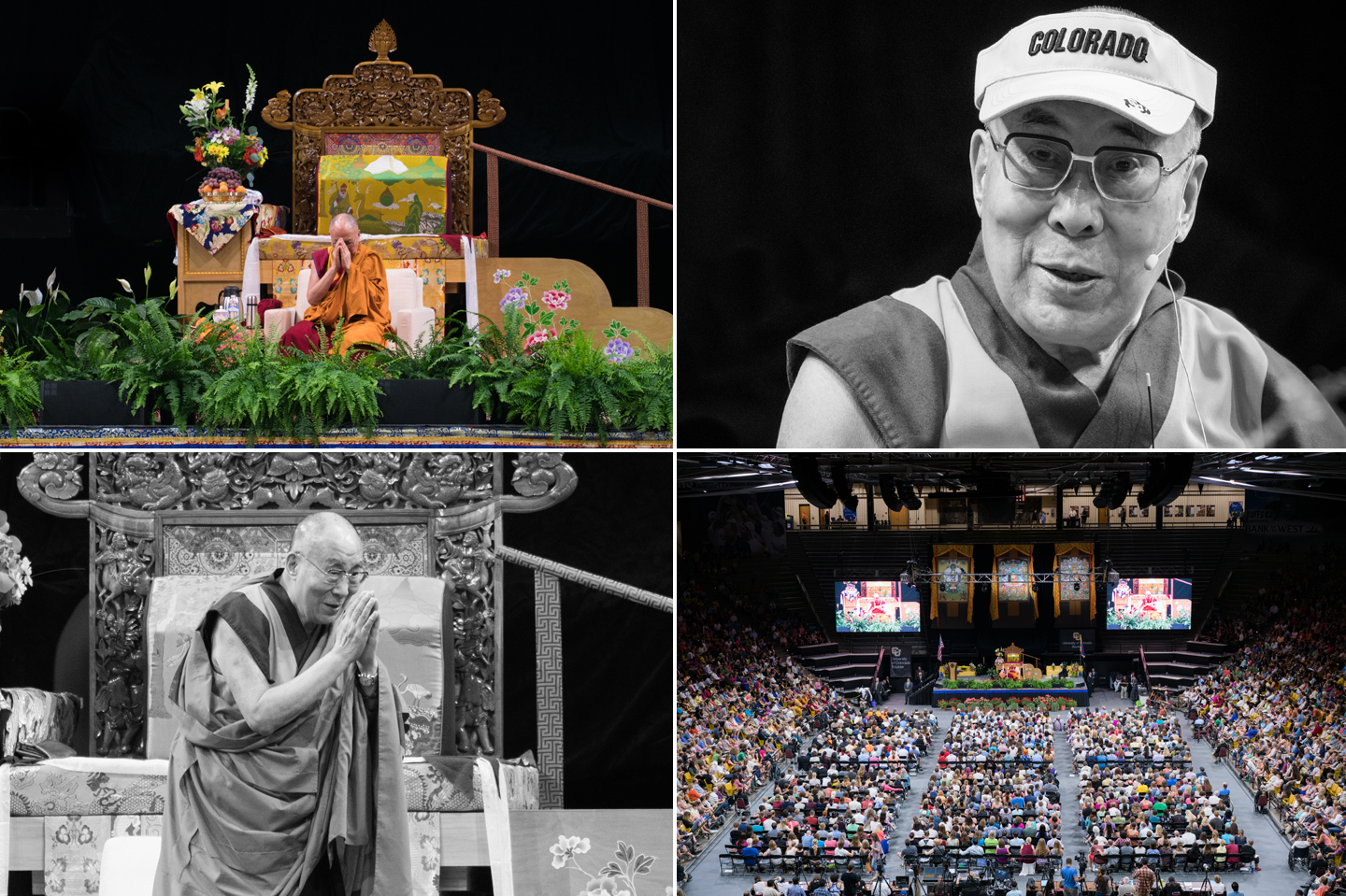 His Holiness the 14th Dalai Lama visits Boulder, Colorado