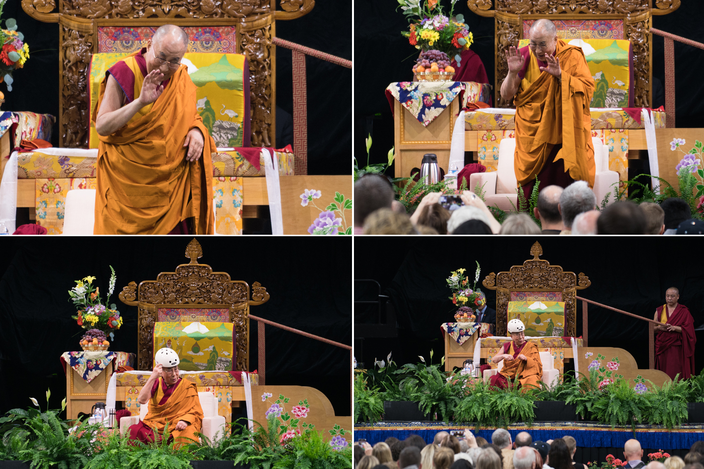 His Holiness the 14th Dalai Lama visits the University of Colorado in Boulder, Colorado