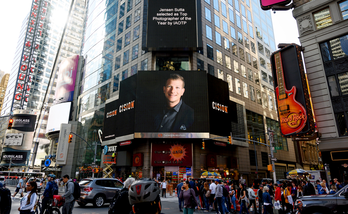 IAOTP Top Photographer of the Year Jensen Sutta Event Photography Times Square