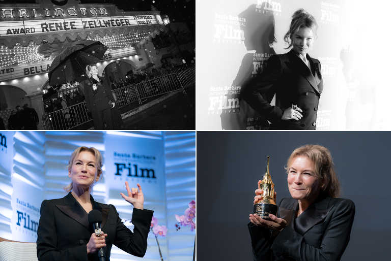 Santa Barbara International Film Festival Photographer Jensen Sutta Event Photography Renee Zellweger